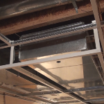 Basement ductwork boxout using drop ceiling material