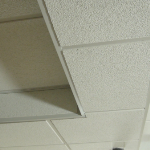 Advanced Double drop of a suspended ceiling boxing out ductwork