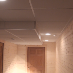 Finished drop ceiling using a Professional Advanced Drop