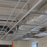 Suspended ceiling drop metal frame