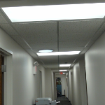 Armstrong #755 suspended Ceiling tile in Corridor