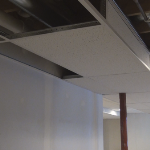 Picture of partially finished basic suspended ceiling drop