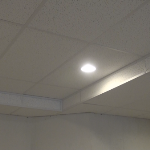 Basic suspended ceiling drop in basement