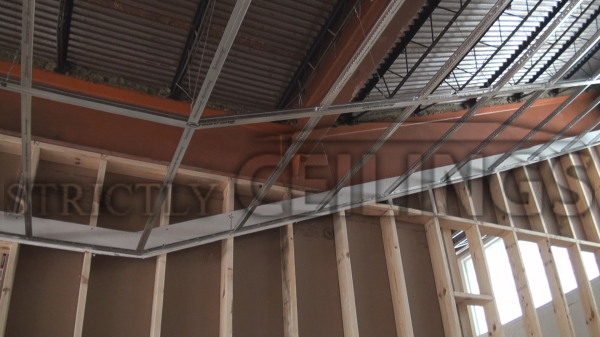 Building Vertical Drywall Ceiling Drops Suspended