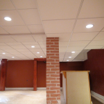 Armstrong 2x2 Dune #1774 in Basement with multiple ceiling drops