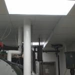 100% Water and Chemical Proof Ceiling Tile in Mixing Plant