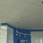 USG 2x2 Frost #419 Drop Ceiling Tile In Car Dealership