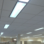 USG Frost #490 High Light Reflectant Ceiling Tile in Office