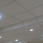 2x2 Olympia Micro Drop Ceiling Tile #4221 in Vertical Suspended Ceiling Drop