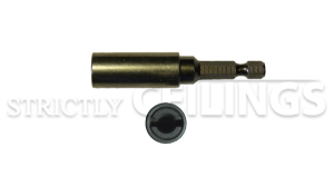 Metal Eye lag adaptor for installing wood and metal fasters for suspended ceiling installation
