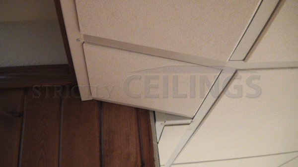 Stairwell Ceiling Slopes Showroom Pictures Of Basement