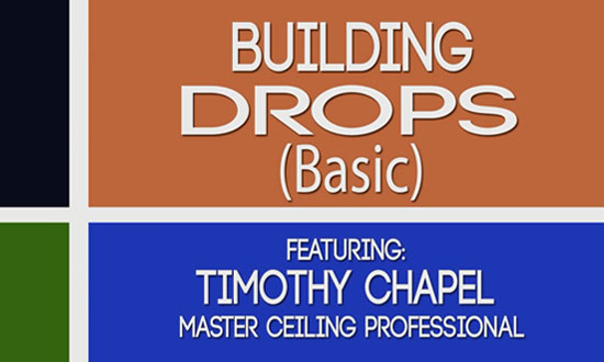 Building basic suspended ceiling drops