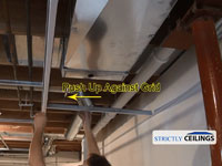 Building Vertical drops for a suspended ceiling in your basement
