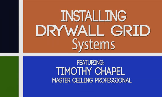 Installing a drywall Suspension Grid system