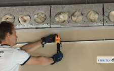 Installing a drop ceiling using a laser