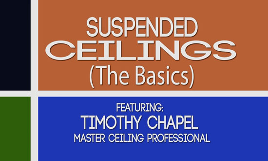 The Basics of Suspended/ Drop Ceilings