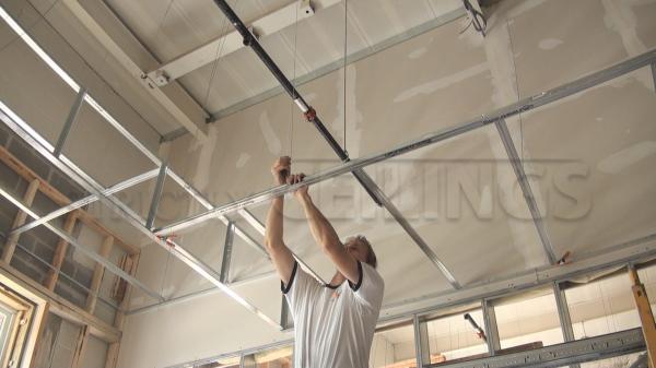 Drywall Suspended Grid Showroom Drywall Suspended