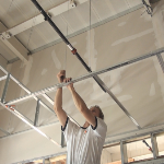 Tying wires for a drywall grid system