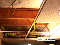 2x2 Drop ceiling window well slope