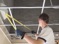 Drop Ceiling Grid Installation