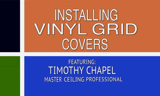 Installing Viny Grid Covers Over An Existing Drop Ceiling Metal Frame